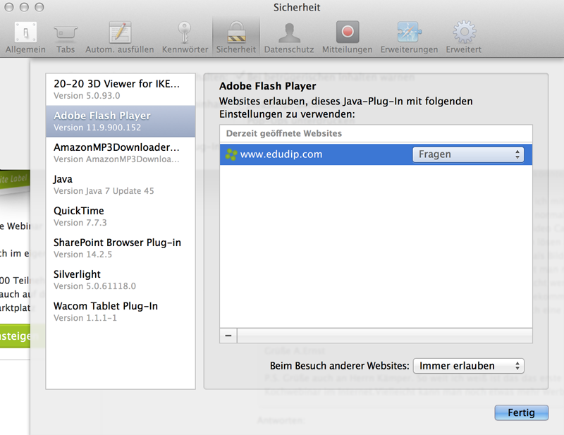 Safari Einstellungen Tutorial