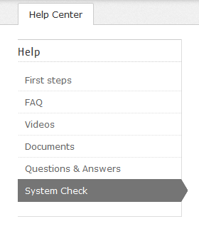 Vérification système