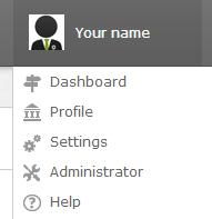Configuring the platform as an admin