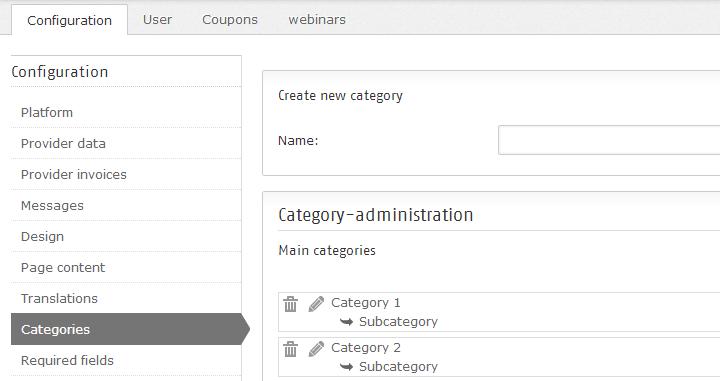 Creating categories