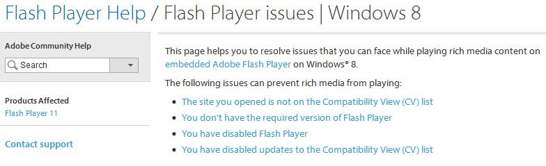 einstellung adobe flash player